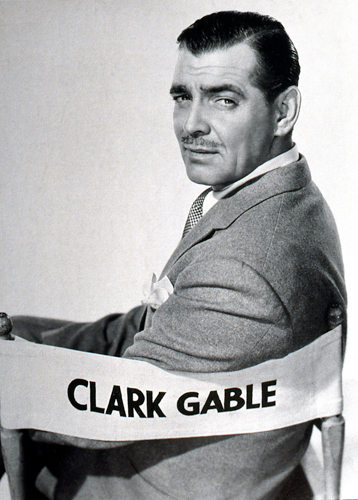 portrait of Gable in a director's chair