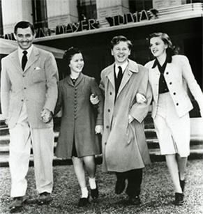 Gable, Temple, Rooney, and Garland MGM Studios 1941