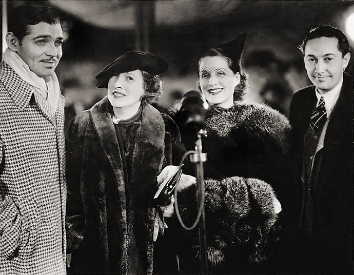 Gable with wife Ria, Norma Shearer and Irving Thalberg in 1936