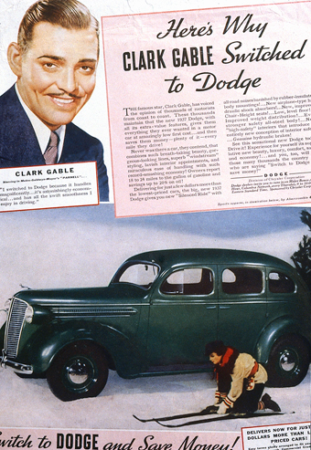 Gable in Dodge ad
