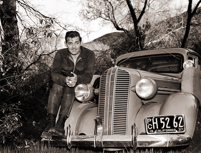 Gable with a 1937 Ford Station Wagon