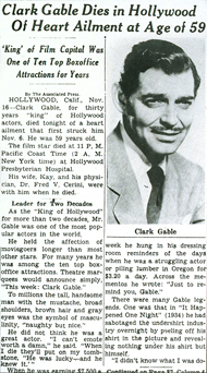 Gable's Obituary