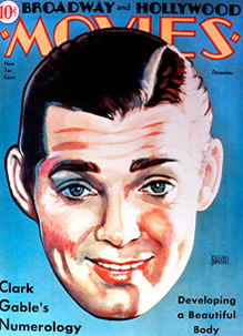 Clark Gable on Cover of Broadway and Hollywood Movies Magazine