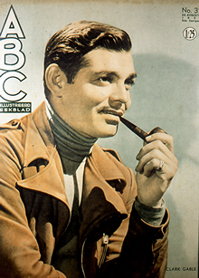 Clark Gable on Cover of Movie Story Magazine