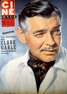 Clark Gable on Cover of Paris Match Magazine