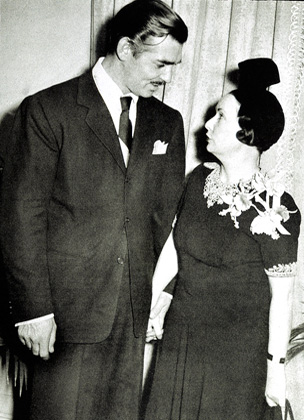 Clark Gable with Margaret Mitchell